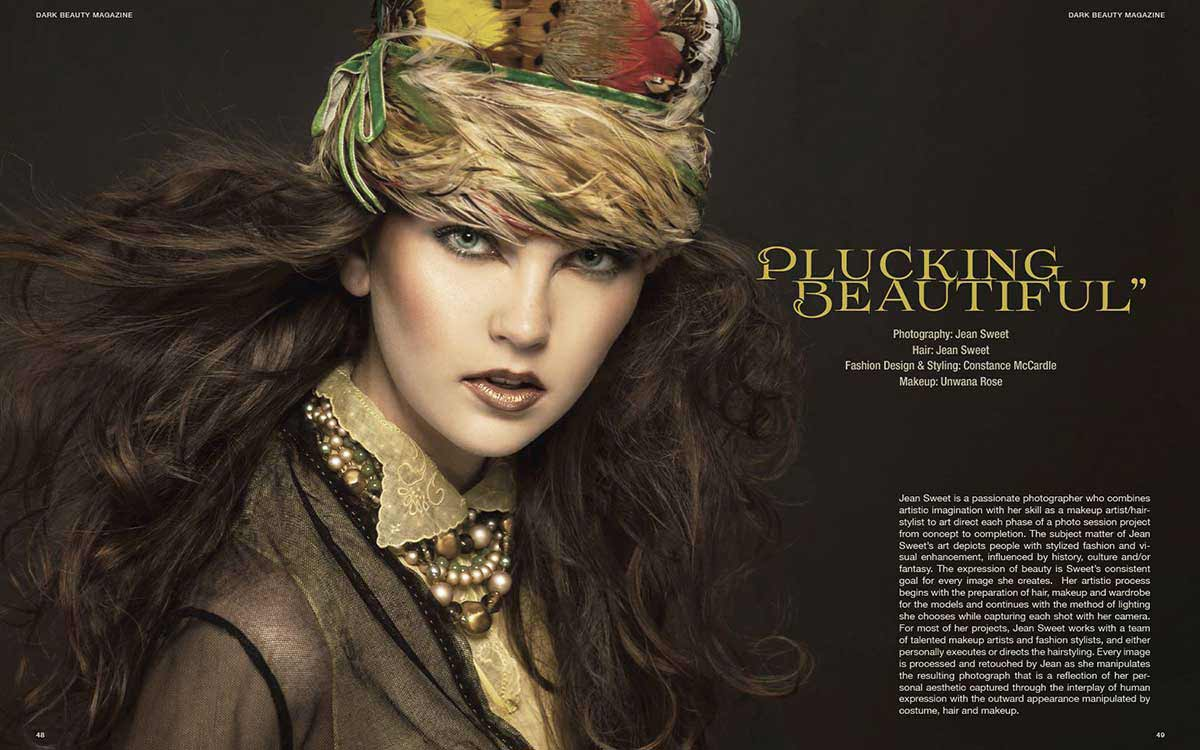 Published in Dark Beauty Magazine, April 2015 | Constance McCardle Fashion Design | Photography: Jean Sweet