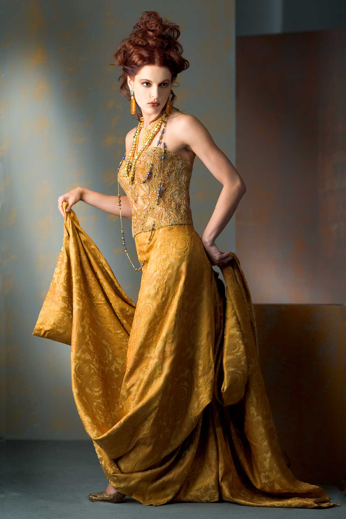 Gold-tones_Constance-McCardle Fashion Design | Photography: Jean Sweet