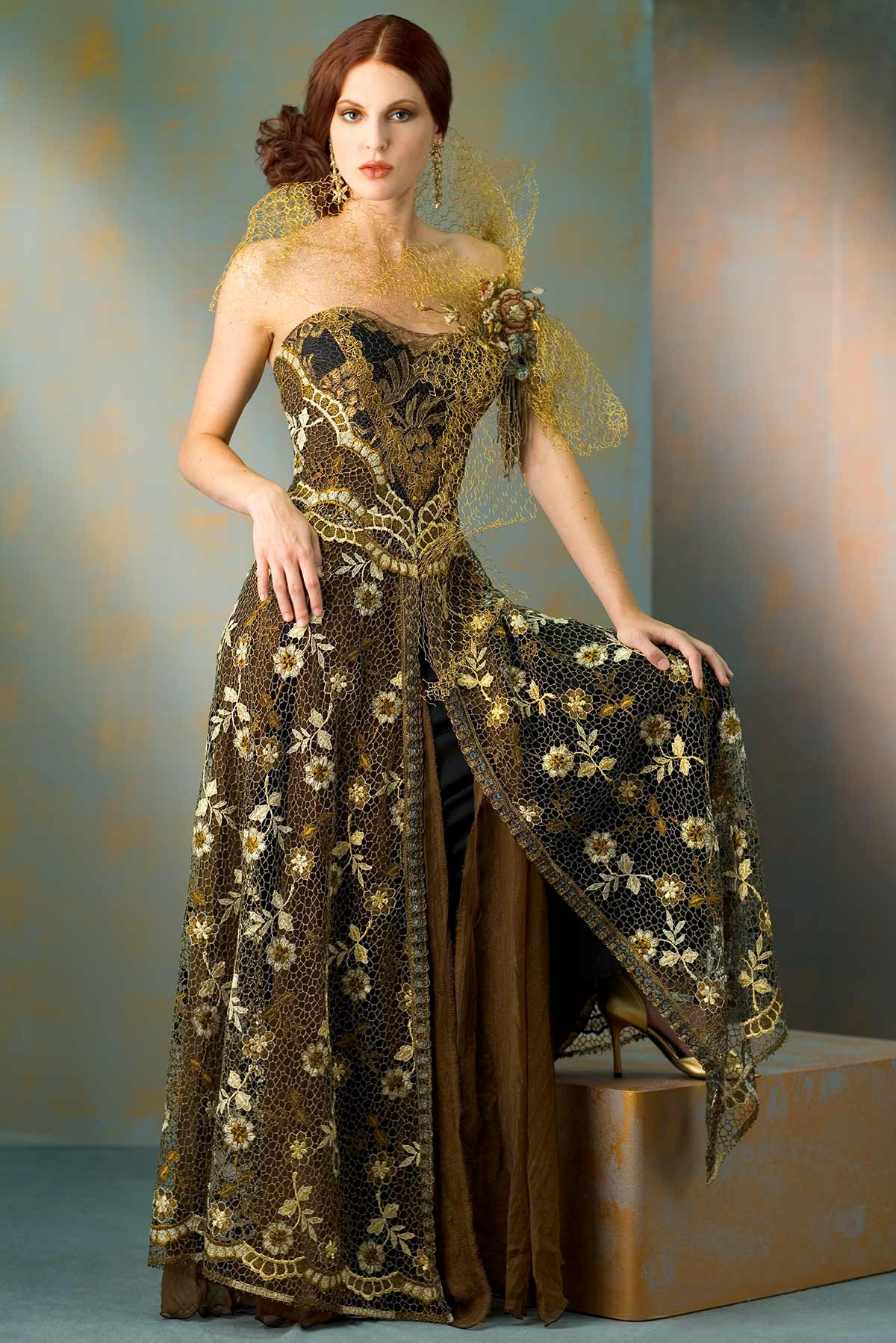 Polished-Bronze_Constance-McCardle Fashion Design | Photography: Rick Luettke