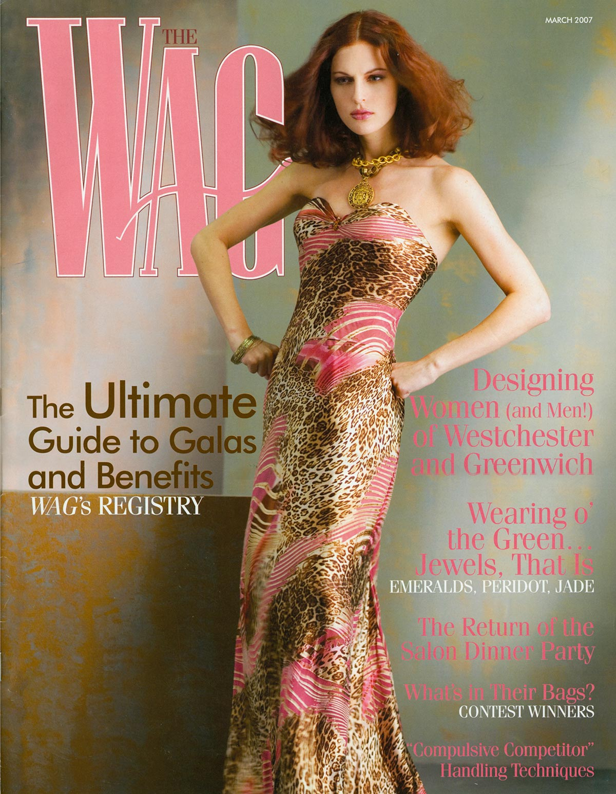 Wag Magazine_March07_Cover_Constance-McCardle-Fashion - Photography: Rick Luettke