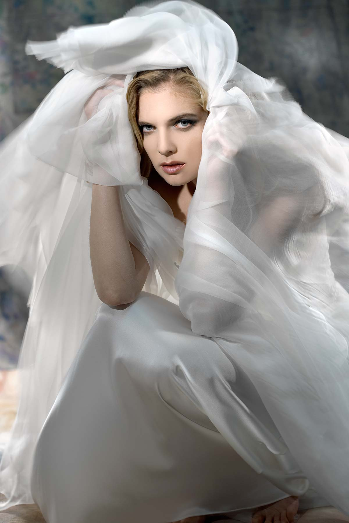 """WHITE CLOUD""- Constance McCardle Fashion Design 