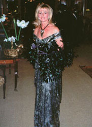 Debbie Simon in Constance McCardle Gown