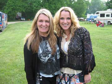 Constance McCardle with Rhonda Vincent